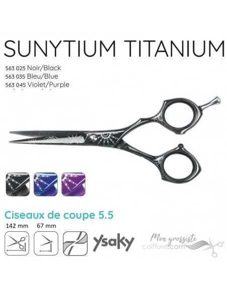 Ciseaux Ysaky Sunytium Black Cut 55 Titanium